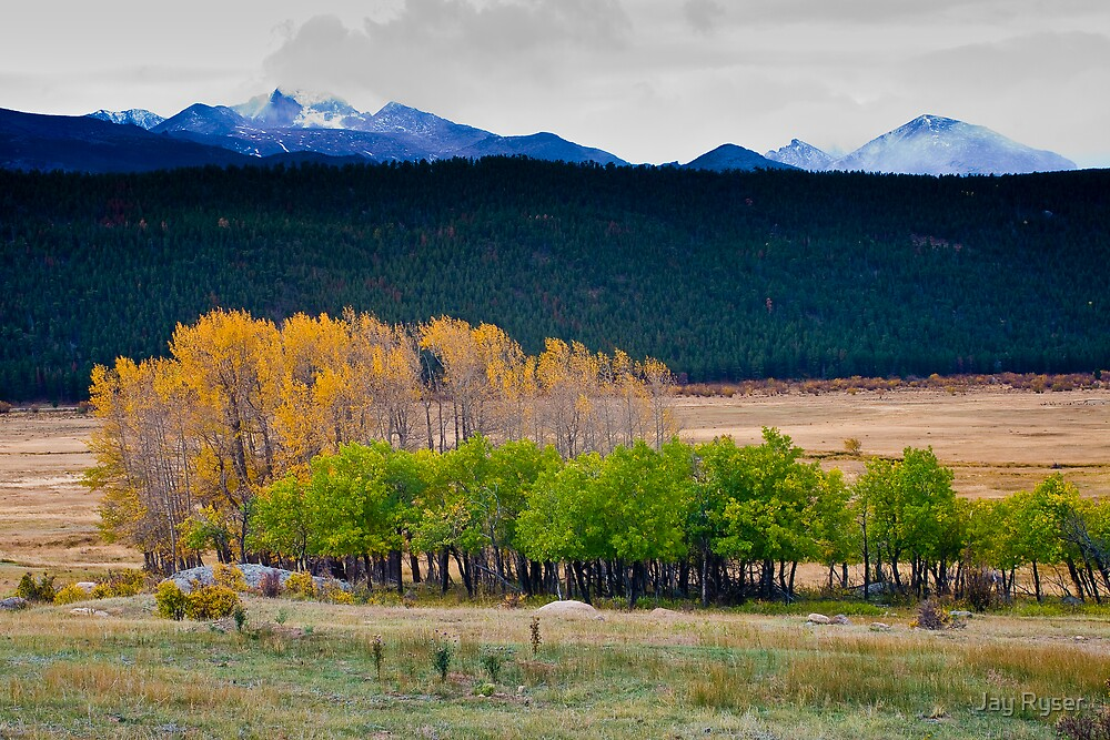 Longs Peak with Fall Colors by Jay Ryser