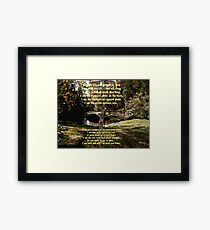 Native American Prayer Framed Print