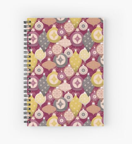 Vintage Christmas Ornaments  Spiral Notebook