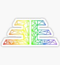 Rainbow EVOLVE Geometric ƎE Sticker