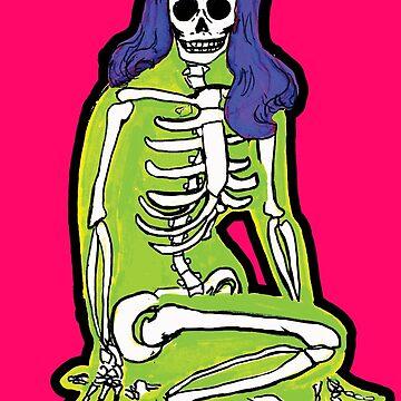 Green Skelepinup by SophieJewel