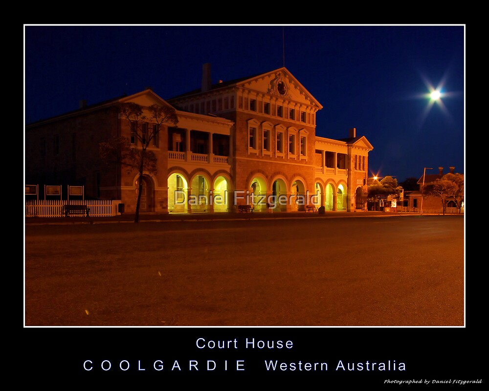 Coolgardie Court House - Moonshine edition by Daniel Fitzgerald