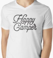 HAPPY CAMPER Men's V-Neck T-Shirt