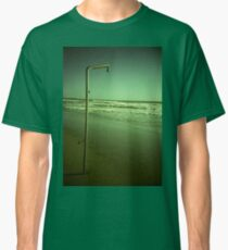 Beach shower in surreal green 35mm xpro cross processed lomographic film lomography analog photo Classic T-Shirt
