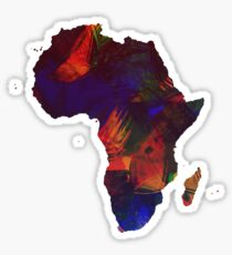 Colorful Africa Sticker