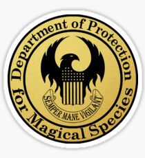Department of Protection for Magical Species (FULL) Sticker
