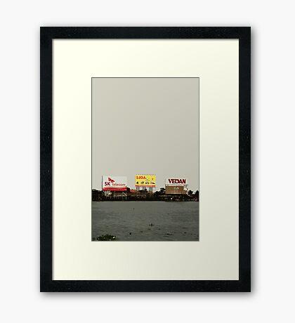 river billboards Framed Print