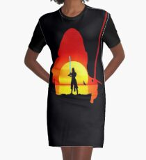 Let The Past Die Graphic T-Shirt Dress