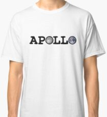 Apollo Moon and Earth Classic T-Shirt