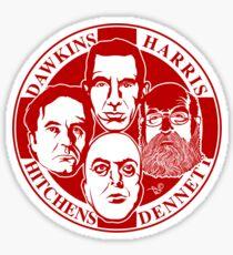 The Four Horsemen: New Atheists (Scarlet) Sticker