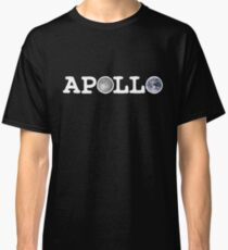 Apollo Moon and Earth (White Type) Classic T-Shirt