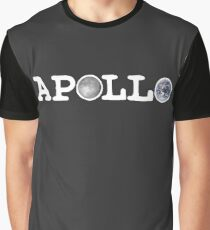 Apollo Moon and Earth (White Type) Graphic T-Shirt