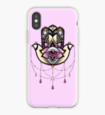 Pink Hamsa iPhone Case