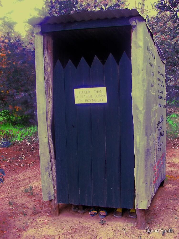 toilet  thunder box aussie style by David Smith