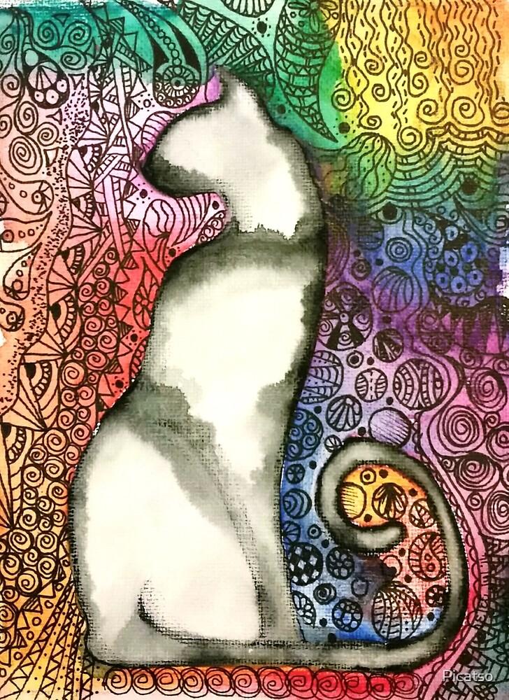 Regal feline by Picatso