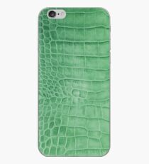 Croco leather effect green iPhone Case