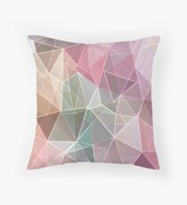 Abstract polygonal print textile fabric 2 Throw Pillow
