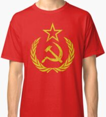 Communist Flag Hammer Sickle Vintage & Retro Classic T-Shirt