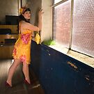 Jo in 'Saffron and Cyclamen' by Lisa Defazio