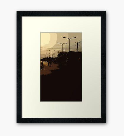 vientiane sunset Framed Print