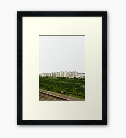 korean landscape Framed Print
