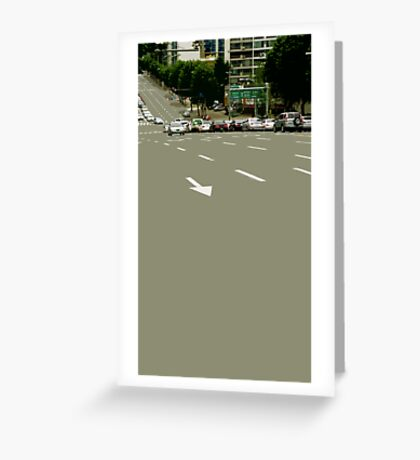 asphalt Greeting Card