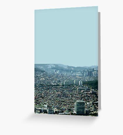 seoul flowing Greeting Card