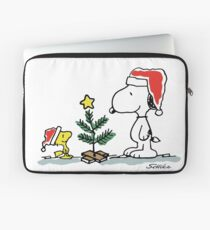 Christmas Tree with Snoopy and Woodstock (Peanuts Comic) Laptop Sleeve