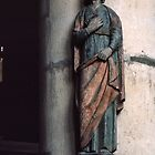 Polychrome statue St Remis Reims France 19840823 0070  by Fred Mitchell