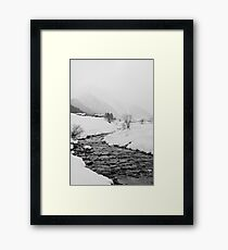 A snowy day Framed Print