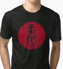 Jiu Jitsu - Japanese Kanji, BJJ MMA Tri-blend T-Shirt
