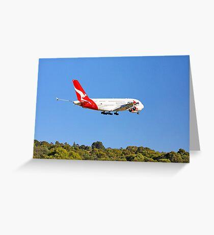 Qantas A380 - Landing  Greeting Card