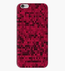Red knitted textiles iPhone Case