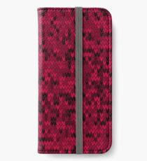Red knitted textiles iPhone Wallet/Case/Skin