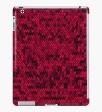Red knitted textiles iPad Case/Skin