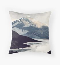 Calming Mountain Throw Pillow