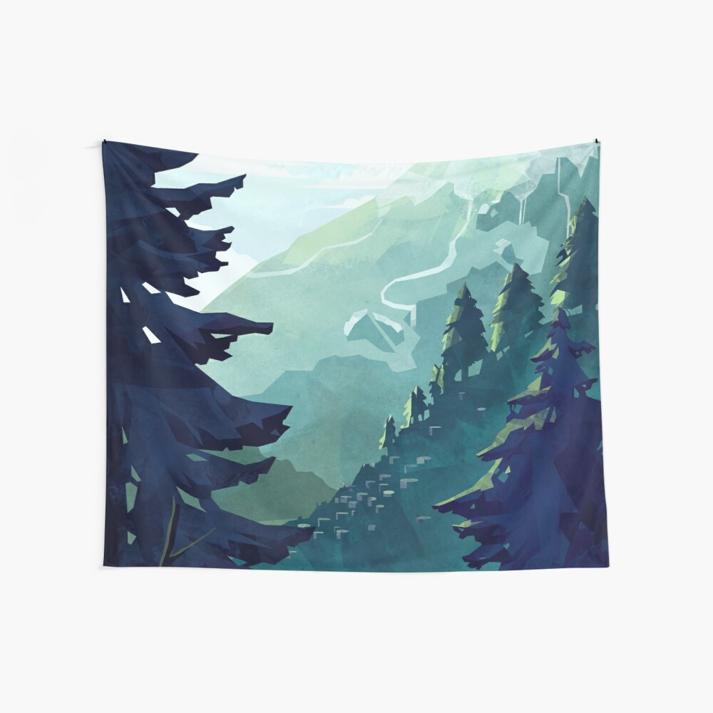 Canadian Mountain Wall Tapestry