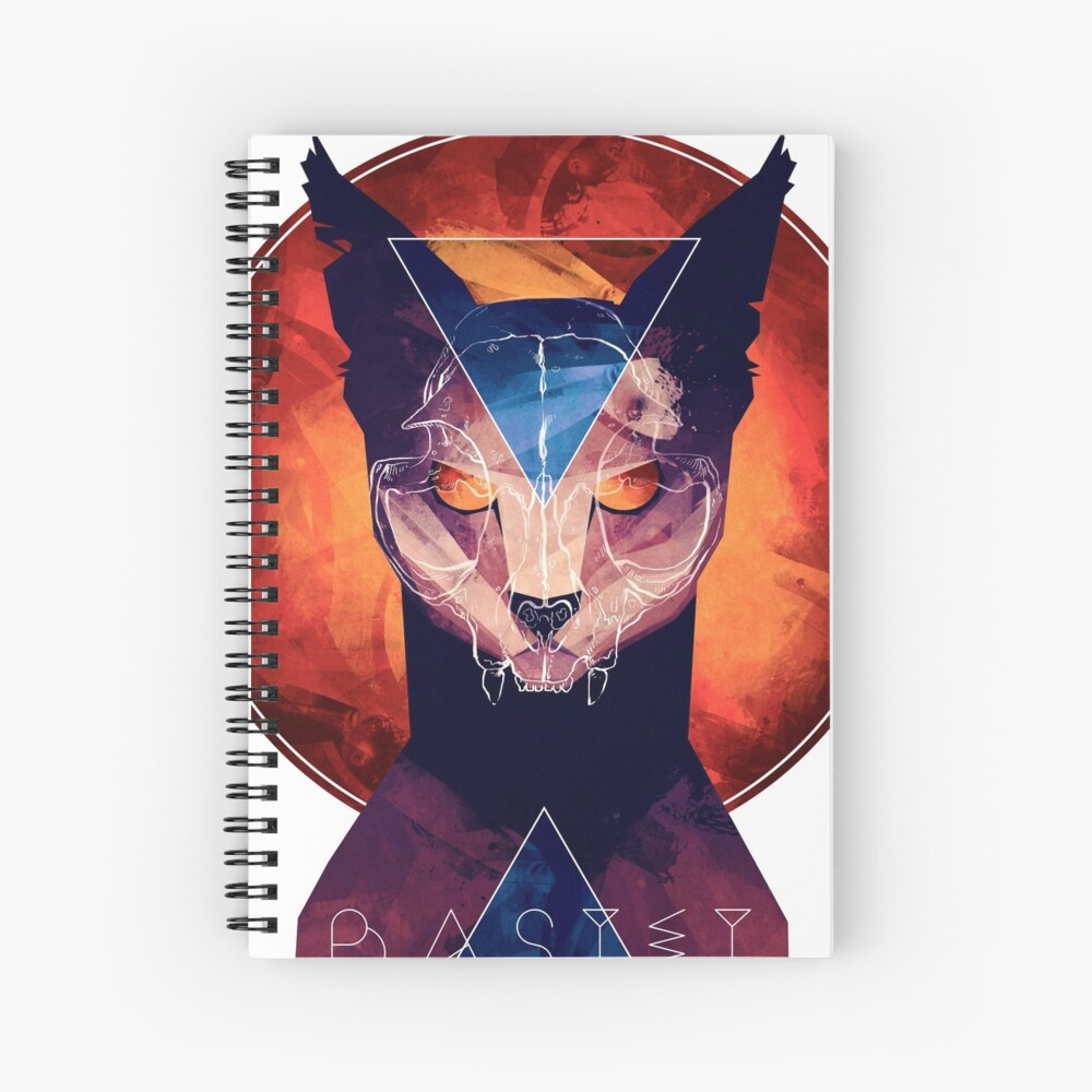 Bastet - Cat Goddess Spiral Notebook