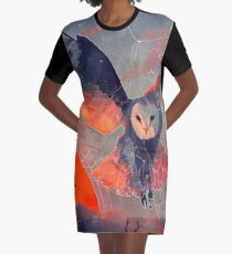 Owl Hunt Graphic T-Shirt Dress