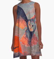 Eulenjagd A-Linien Kleid