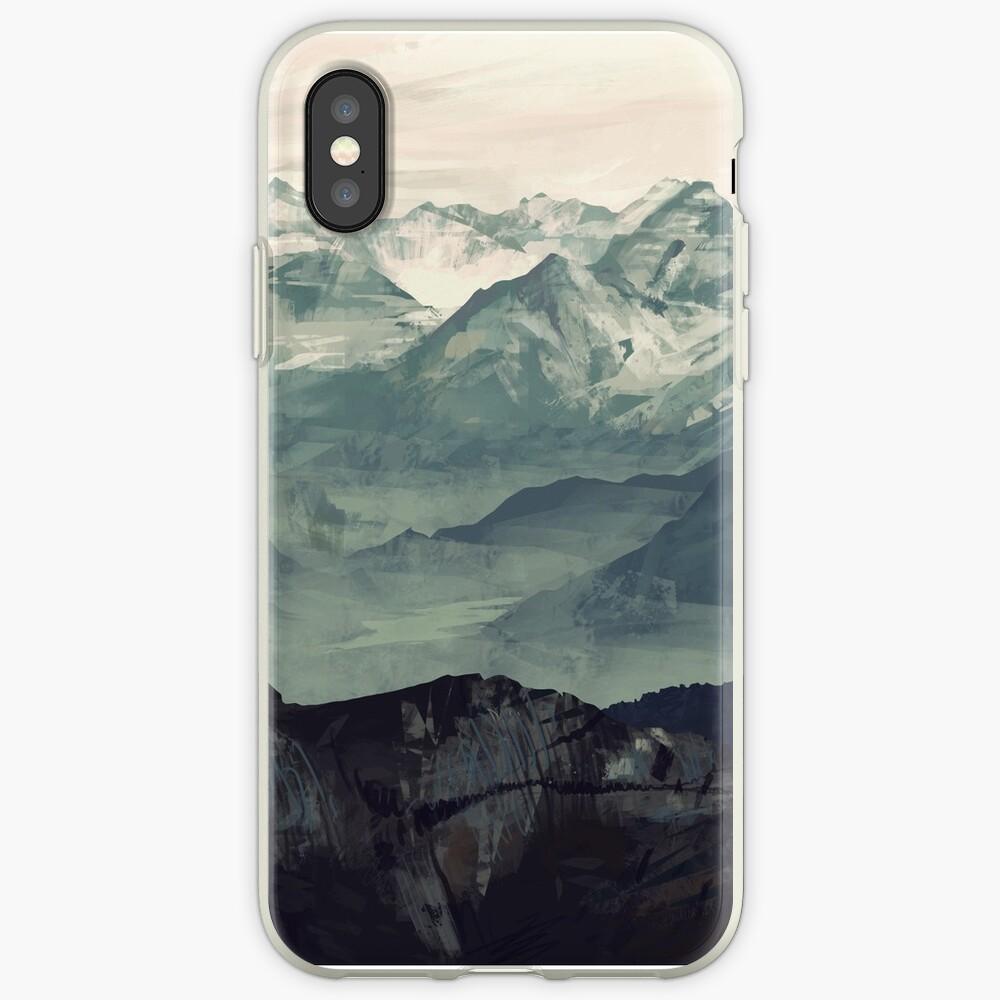 Berg Nebel iPhone-Hüllen & Cover
