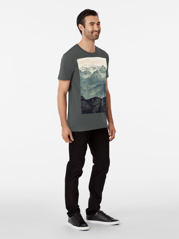 Alternative Ansicht von Berg Nebel Premium T-Shirt