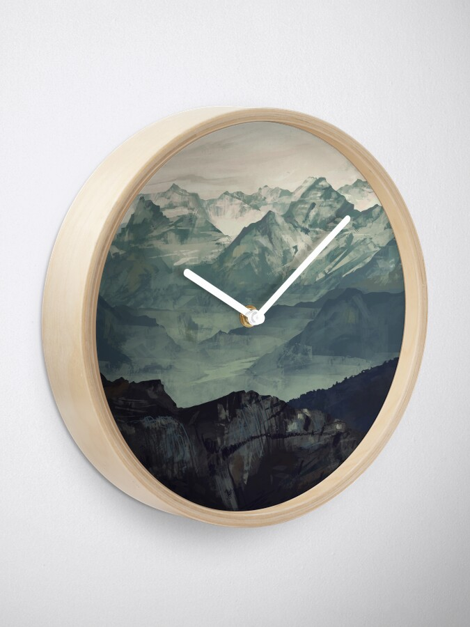 Alternate view of Mountain Fog Clock