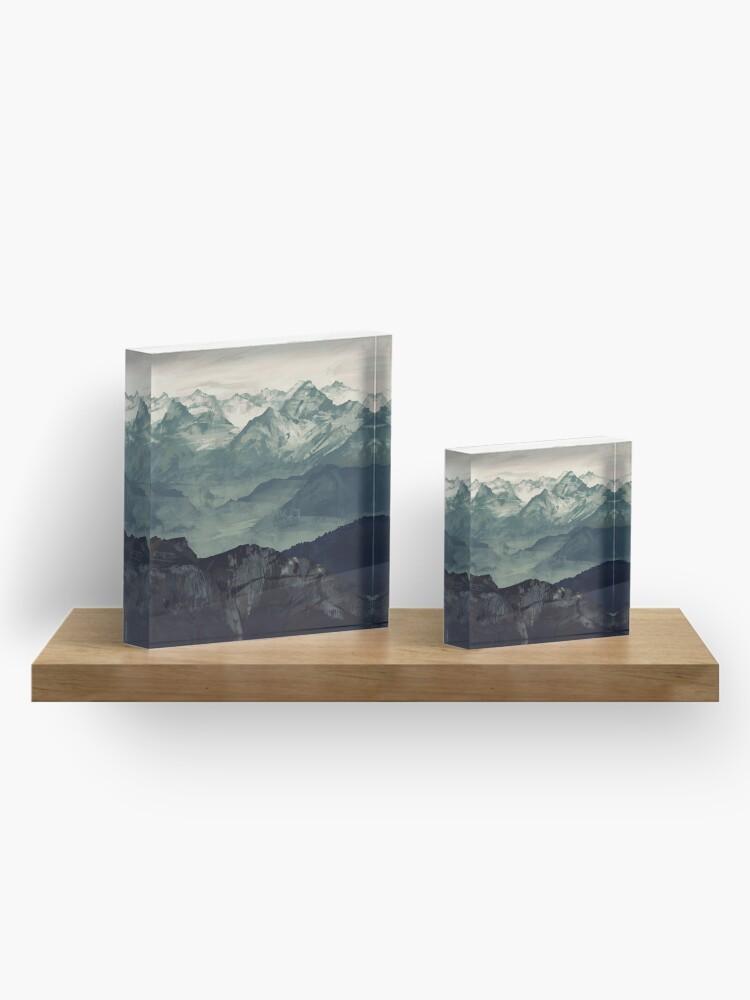Alternative Ansicht von Berg Nebel Acrylblock