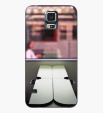 Train table and station Hasselblad medium format 120 square 6x6 negative c41 color analogue photograph Case/Skin for Samsung Galaxy