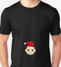 b9a24b333fe63 Christmas maternity shirt - Funny womens pregnancy annoucement tee Unisex  T-Shirt