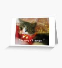 Meowwy Christmas Greeting Card