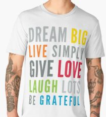 LIFE MANTRA positive cool typography bright colors Men's Premium T-Shirt