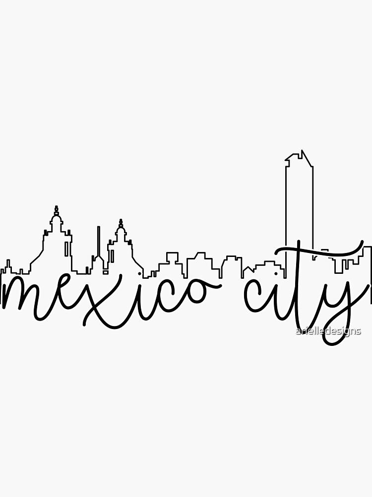 contorno del paisaje urbano - ciudad de méxico de arielledesigns