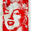 Marilyn Monroe stencil image. by Terry Collett
